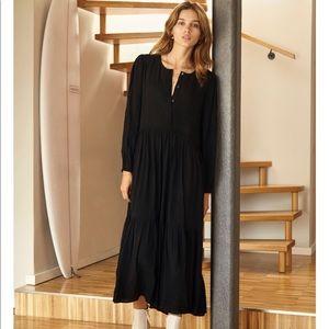 Wilfred (Aritzia) Long Sleeve Black Maxi Dress